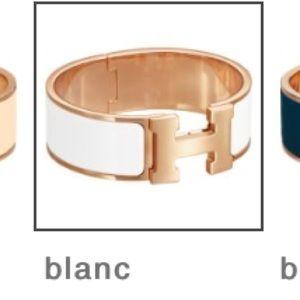Authentic Hermès Clic Clac Le H Bracelet